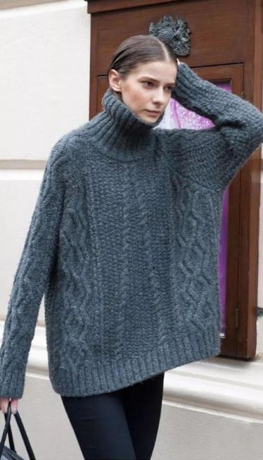 高领子毛衣怎么翻领