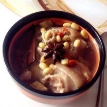 黄豆花生猪脚汤