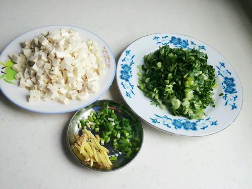 青菜豆腐末汤羹