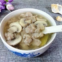 口蘑肉沫汤