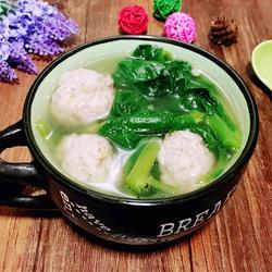 木耳菜肉丸汤