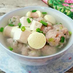 小肠灌蛋丸子汤