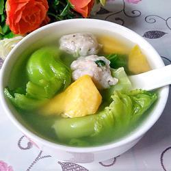 芥菜番薯鲮鱼丸汤