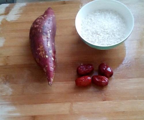 白心红薯粥