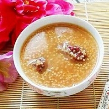 小米红糖大枣粥