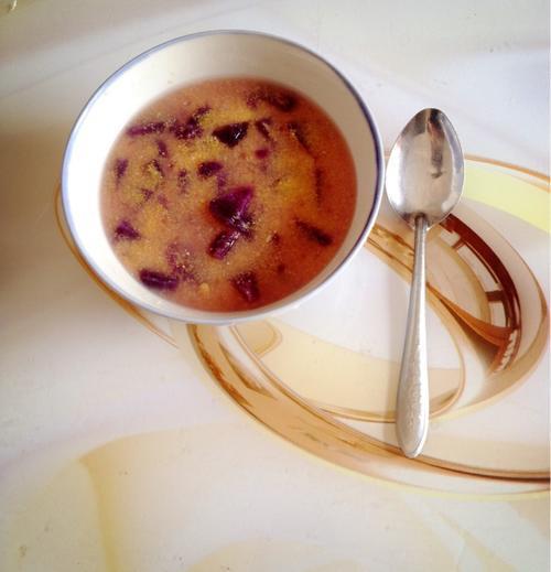 紫薯小米粥