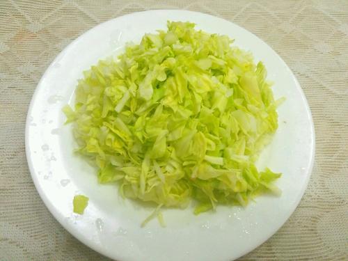 卷心菜虾仁白米粥
